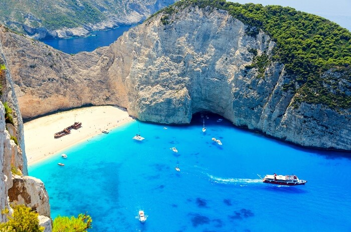 navagio bay shipwreck beach
