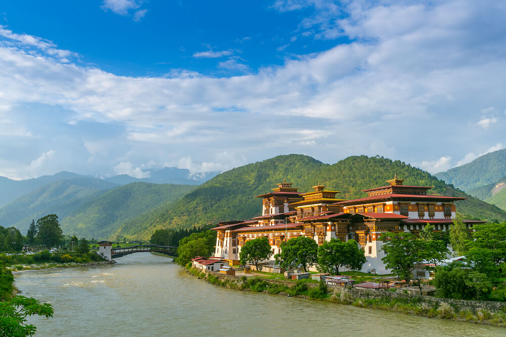a beautiful old monastery by river side