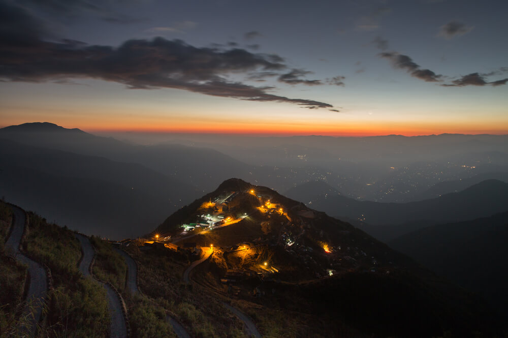 beautifully lit Zuluk valley at night