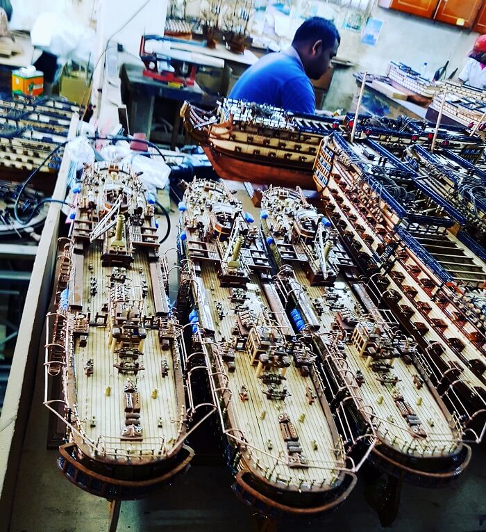 Ship model factory, Mauritius