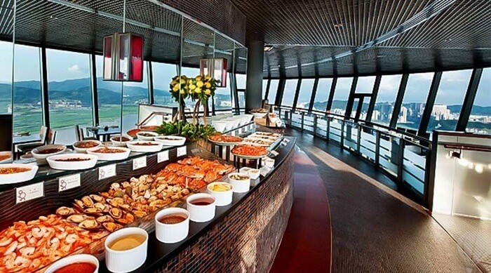 highest revolving restaurant in macau