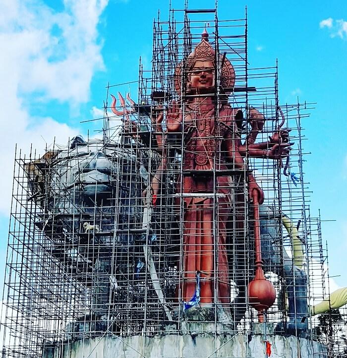 Shiva statue in Mauritius