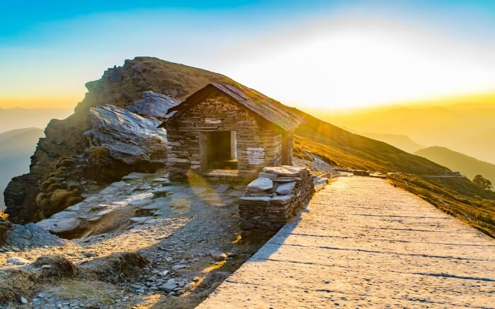 A beautiful sunset view in Chopta