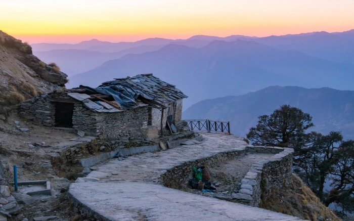 A little hut en route Tungnath Chandrashila trek