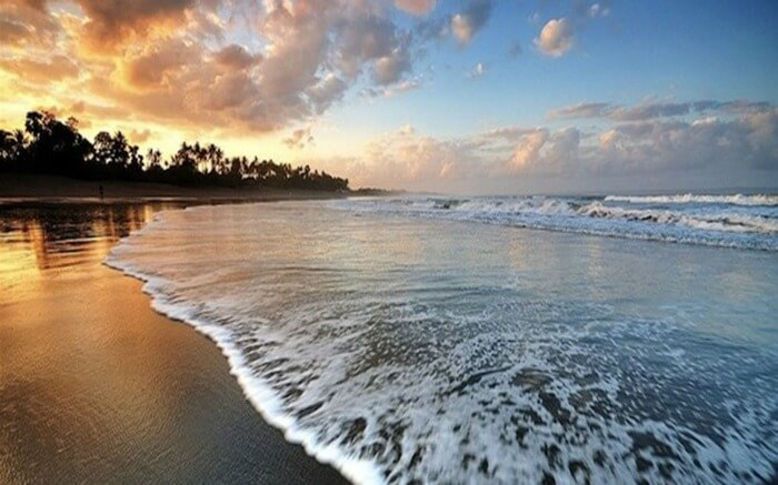 A view of Berawa Beach in Canggu in Bali