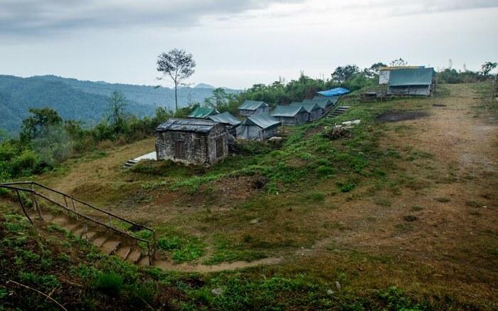 A view of Bompu Camp in Eaglenest Wildlife Sanctuary