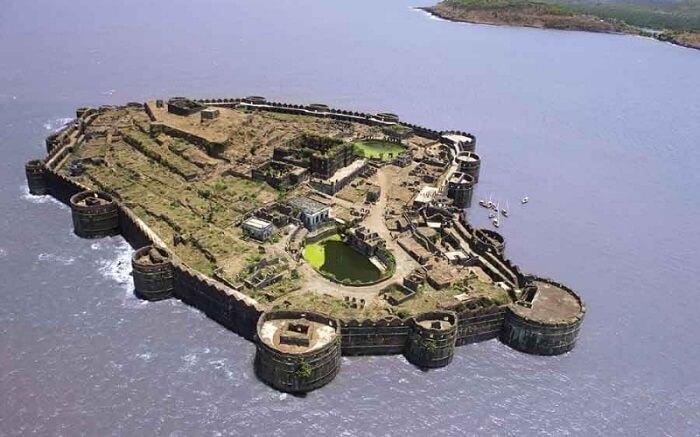 Aerial view of Murud Janjira Fort