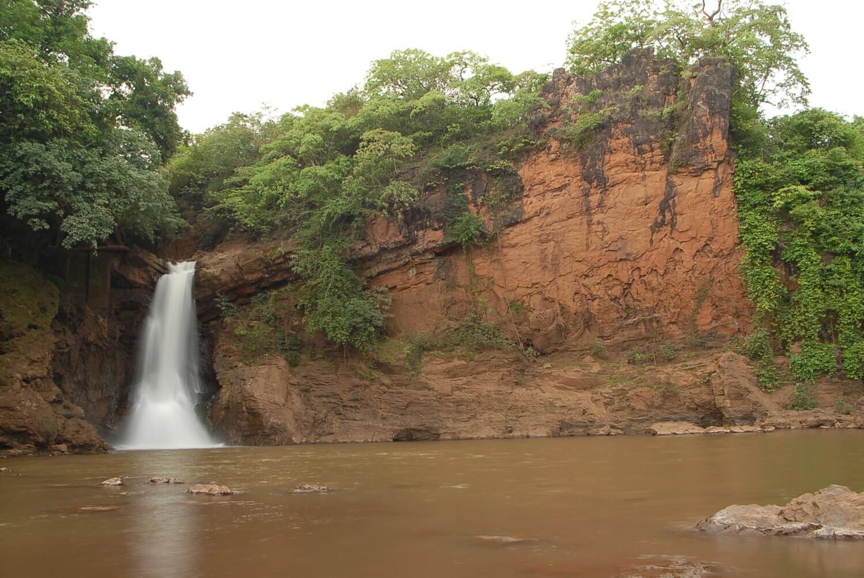 a small yet beautiful waterfall