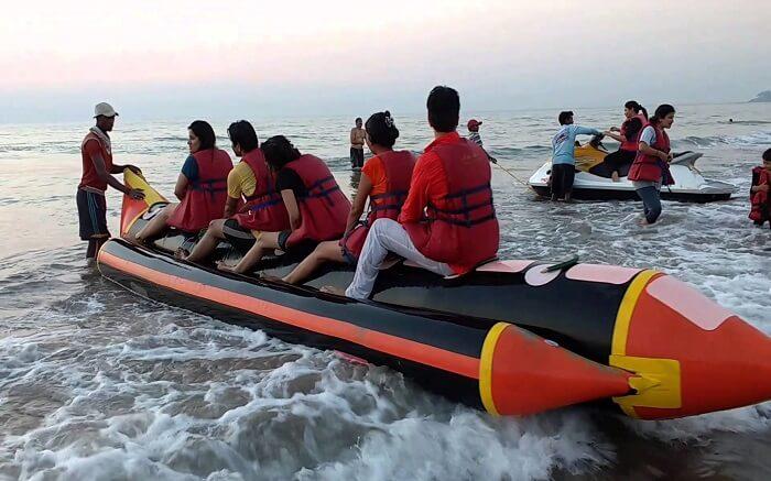 Banana boat ride in Kashid