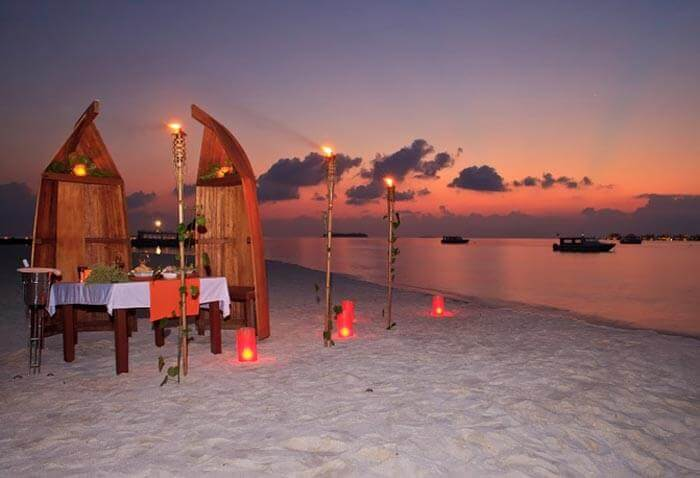 Beach-side dinner in Andaman Islands