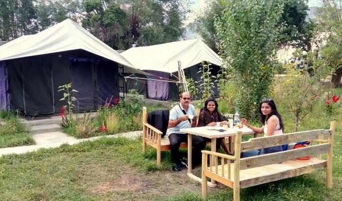 Breakfast at Nubra valley