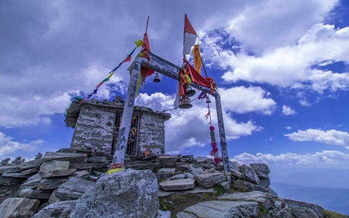 Chandrashila Temple at the summit near Chopta