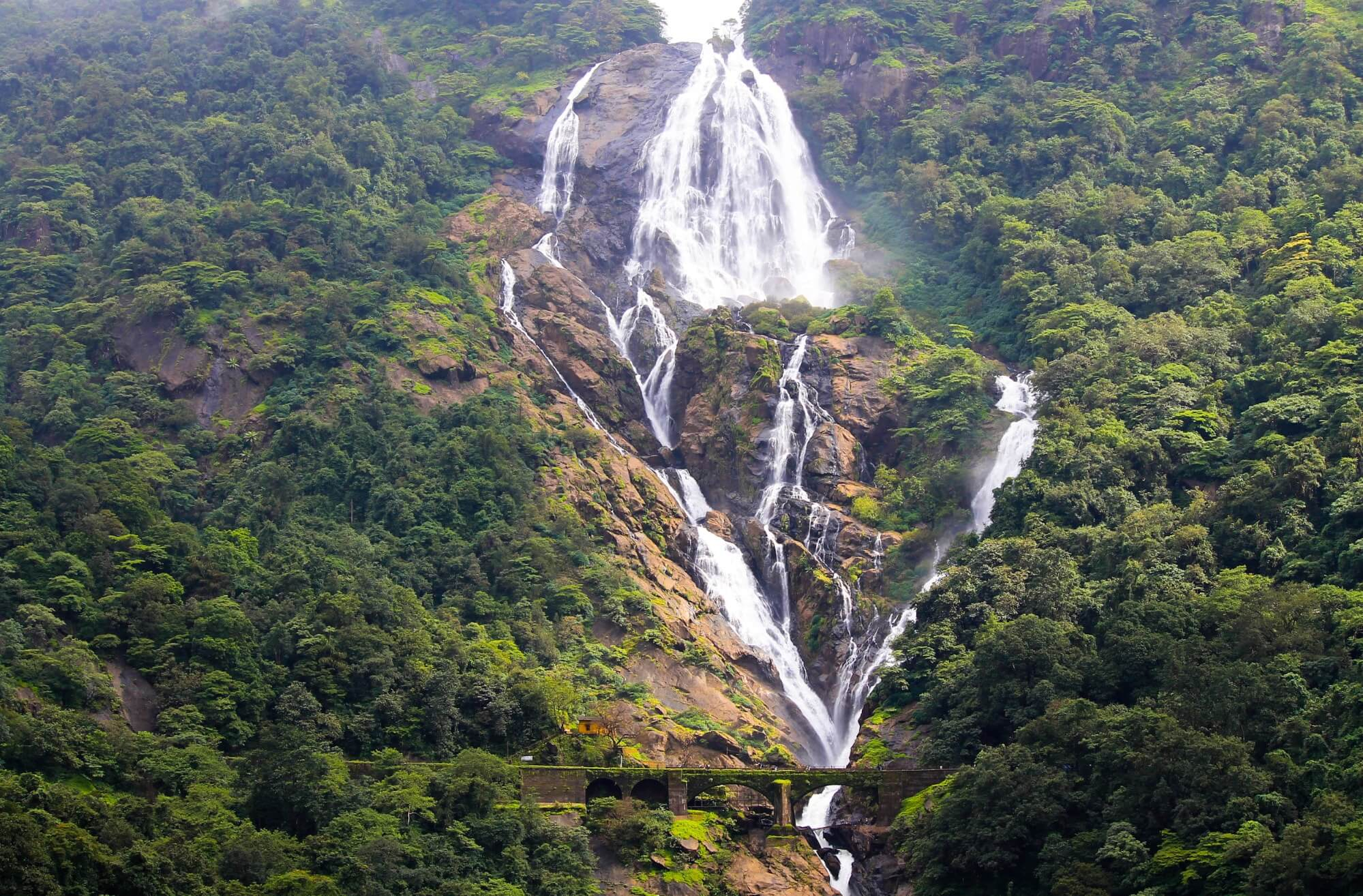 Duddhsagar waterfalls in Goa