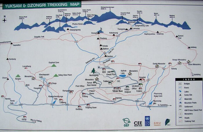 Goechala Trek Route