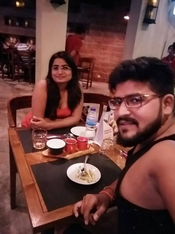 nirav & wife dining after watersports bali