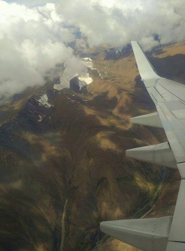 ninad ladakh trip views from flight