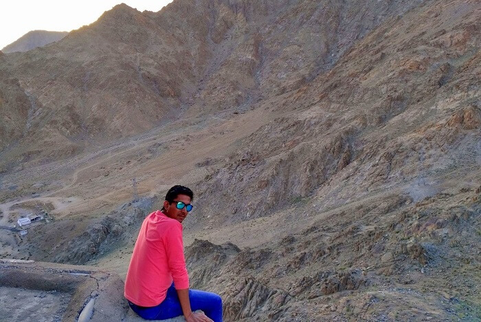 ninad near a monastery in ladakh