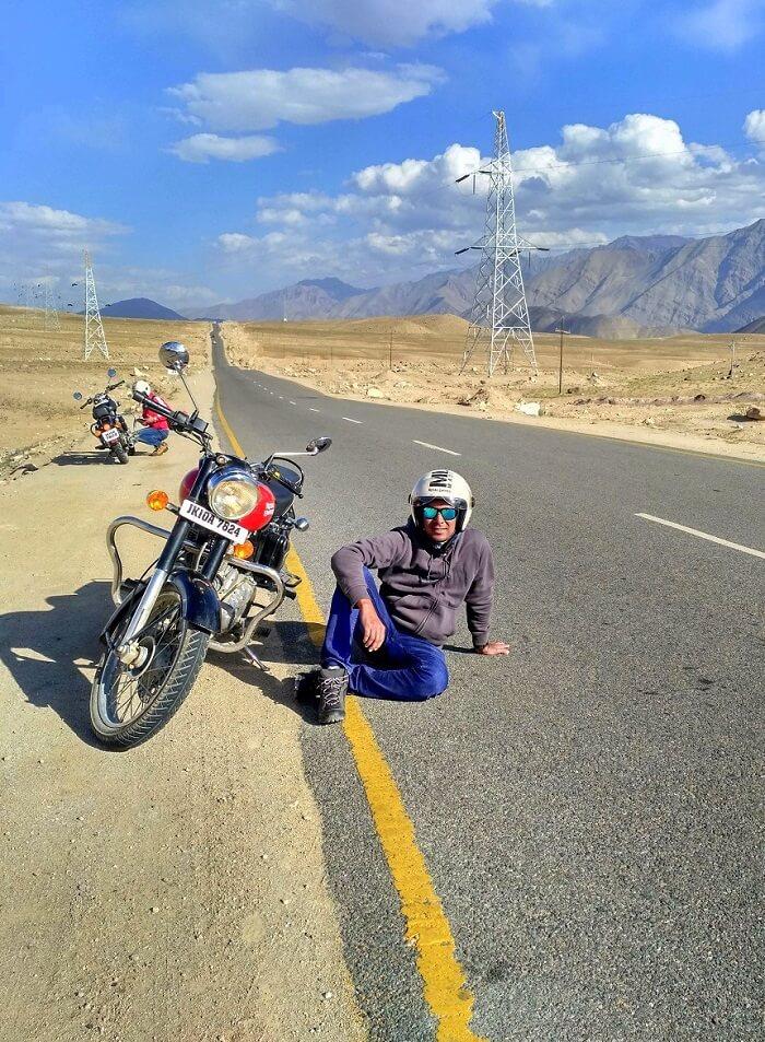 ninad bike trip to ladakh