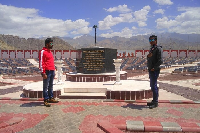 ninad at drass war memorial in ladakh