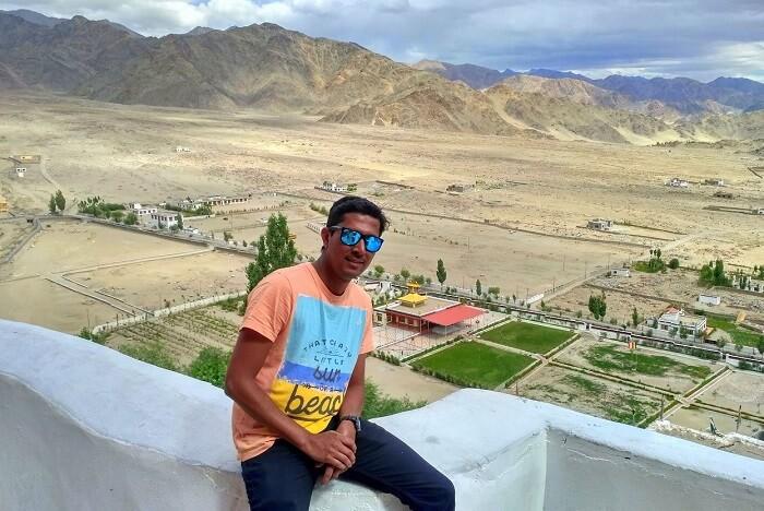 ninad at monastery in ladakh