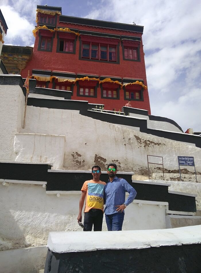 ninad at spituk monastery in ladakh