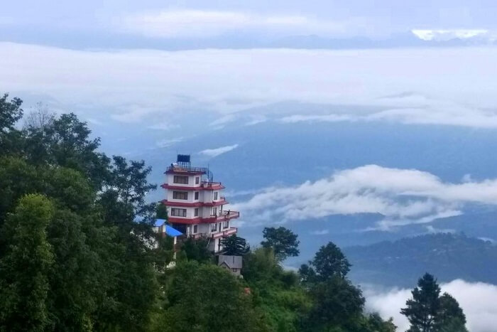awesome views from hotel country villa in nepal