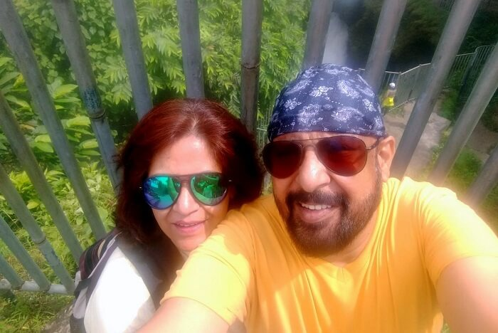 narayan and his wife taking selfie on their nepal trip