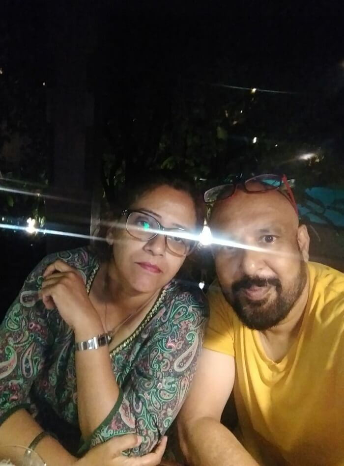 narayan and wife having dinner at resort on their nepal trip