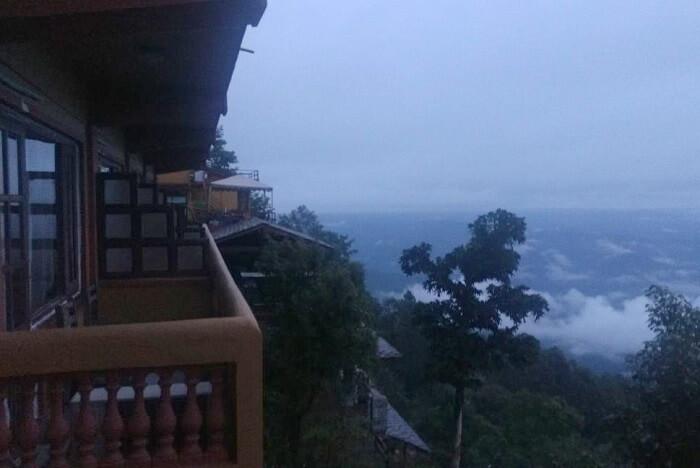 verandah of shangri la hotel in nepal