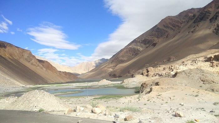 zanskar river near leh
