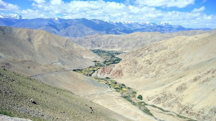 birds eye view in nubra valley