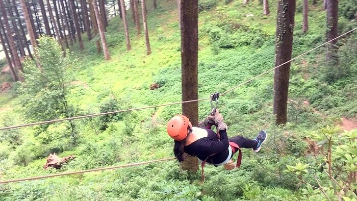 zip lining in kanatal