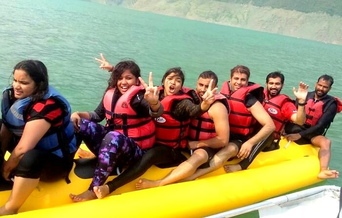 banana boat ride at tehri dam