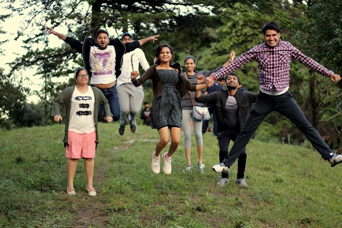 friends trip to binsar