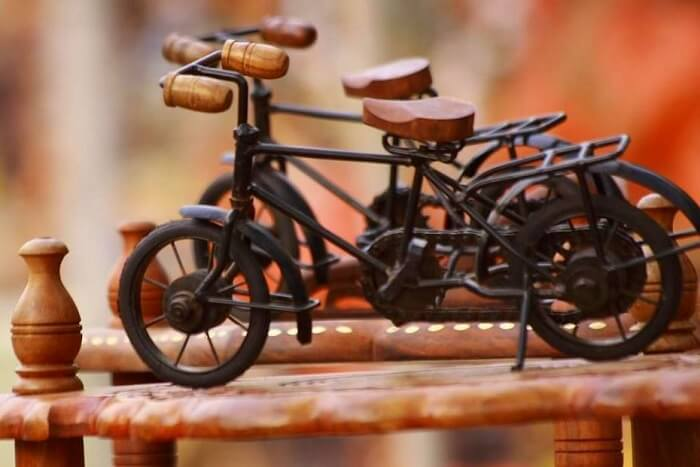 buy wooden cycles from Lakkar Bazaar