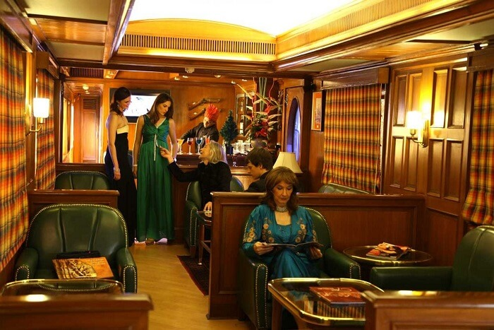 chill at the Maharajas Express lounge area
