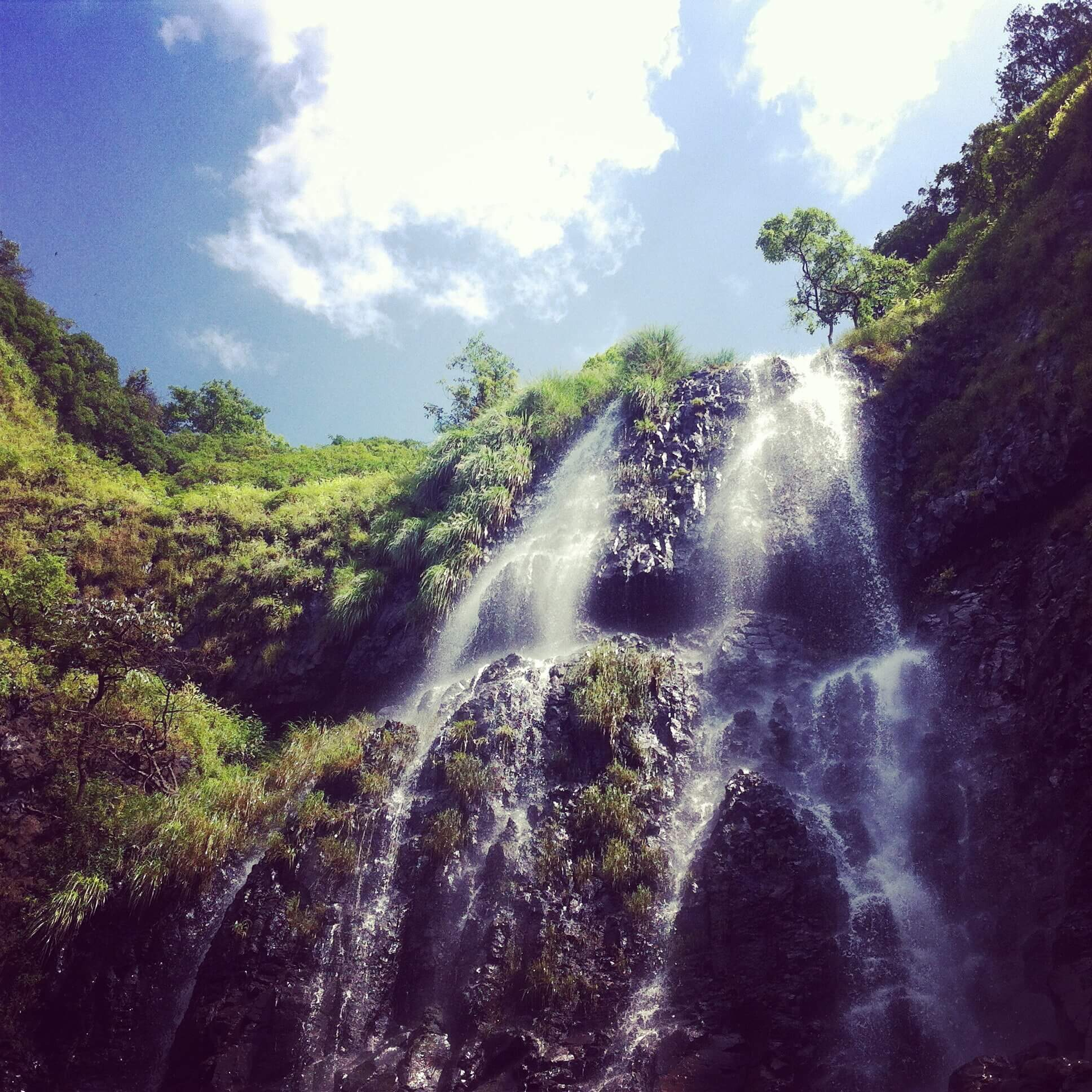 a beautiful waterfall in Goa