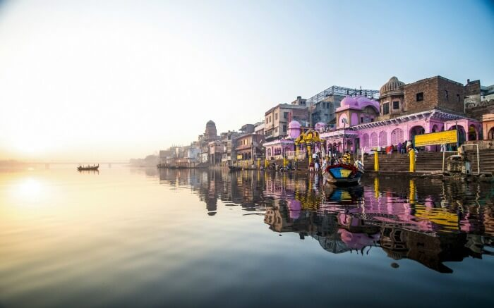 Sunrise at Vishram Ghat of Mathura
