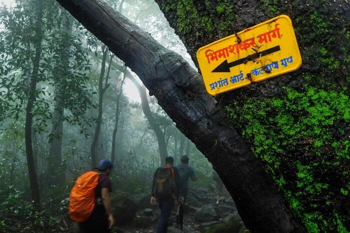 The Ganesh Ghat Route for trekking to bhimashankar