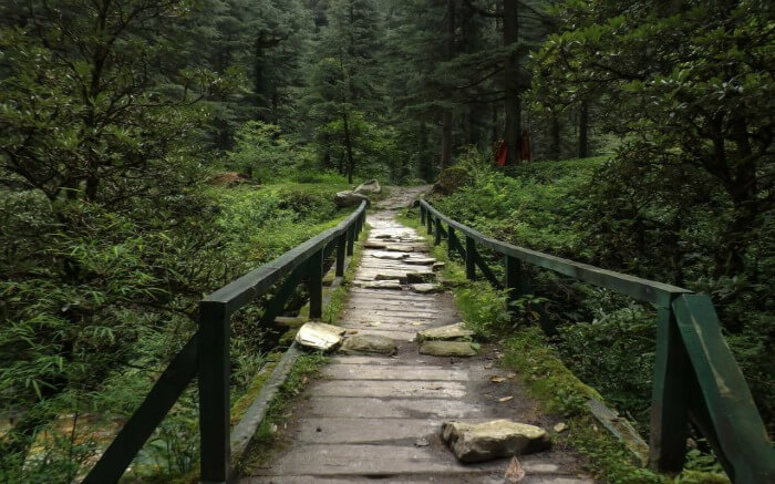The bridge leading to Garhan from Kasol