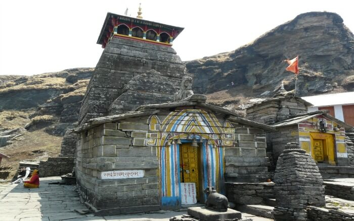 The majestic view Tungnath Temple in Chopta