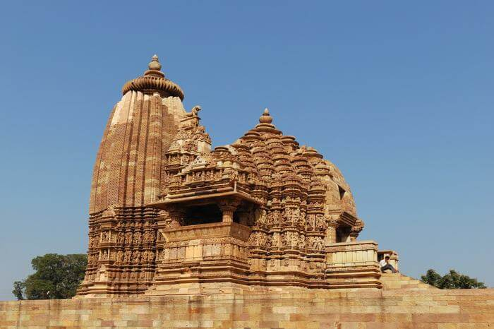 a beautiful temple of Khajuraho