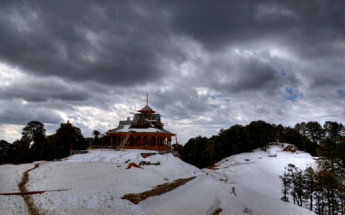 Hatu Mata Temple atop the Hatu Peak near Narkanda