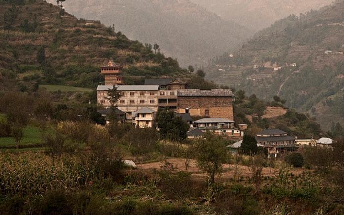 A top view of Mahamaya Temple near Narkanda