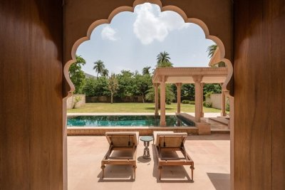 Private pool & garden, Pool Pavilion Suite, Amanbagh