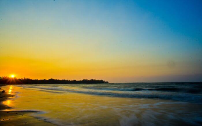 beautiful sunset at a beach