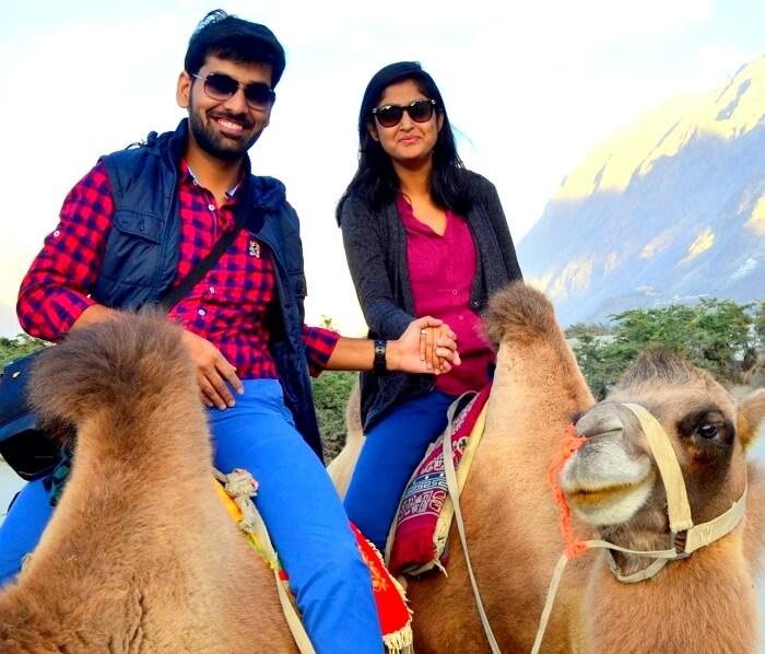 camel ride at hunder