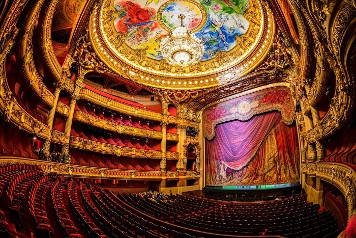 watch an opera or ballet show at Palais Garnier
