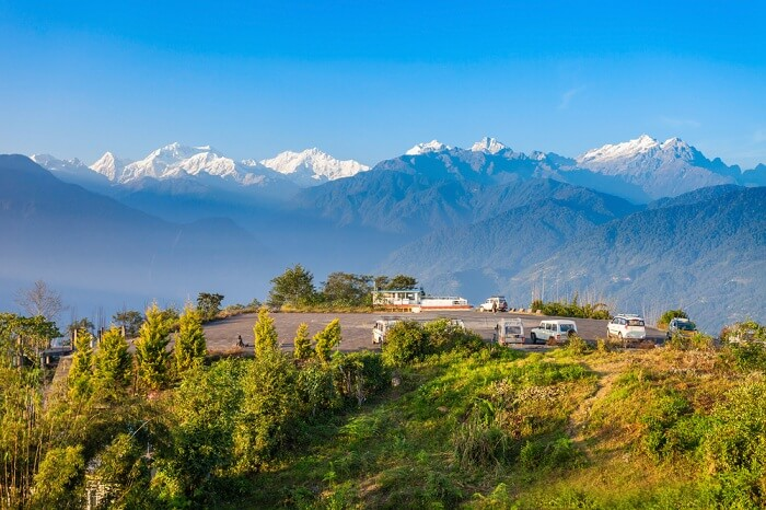 Kangchenjunga viewpoint in Pelling in West Sikkim