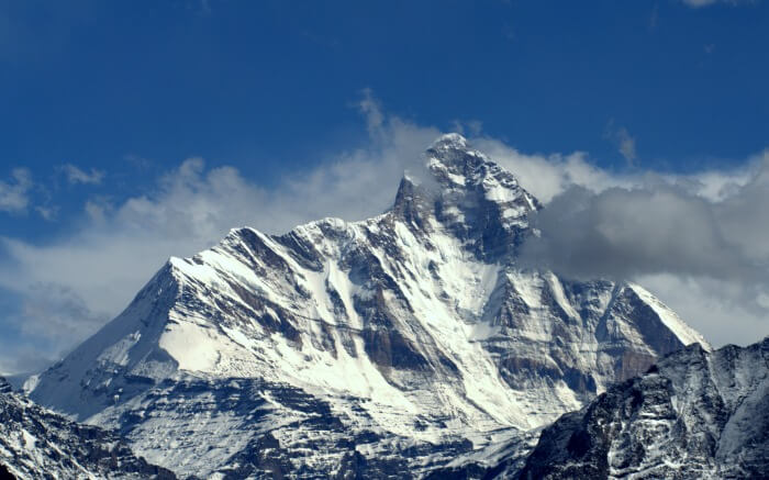 snowclad mountain peak of Nanda Devi